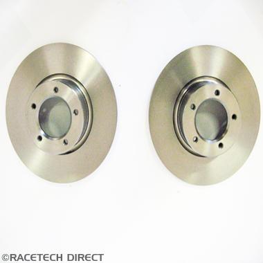 Racetech - Part No. TVR 025J001A Front Brake disc pair ,non vented