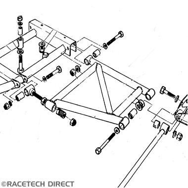 Racetech - Part No. TVR 025R022P TVR Differential Mounting Bush (2)