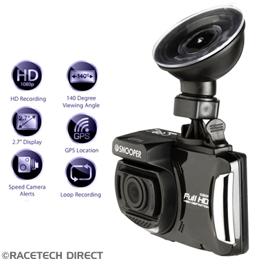 Racetech - Part No. TVR 5019896137047 SNOOPER DVR-4 HD Dash Cam