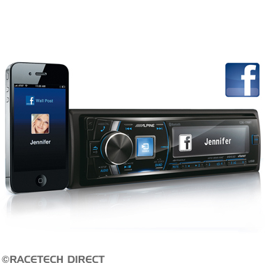 Racetech - Part No. TVR ALPINECDE178BT Alpine CDE-178BT Flag ship model with Bluetooth, iPhone and Android Compatible