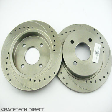 J0106B Brake Disc Rear Solid - Drilled and Grooved