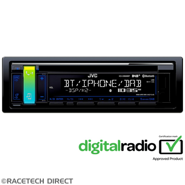 JVCKDDB98BT JVC KD-DB98BT 1-DIN CD Receiver