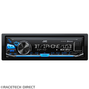 JVCKDX341BT JVC KD-X341BT - Mechless Bluetooth Tuner with USB, AUX, iPhone & Andriod control