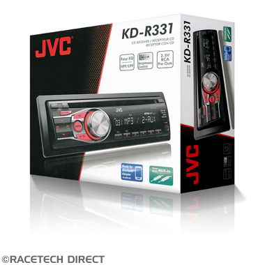Racetech - Part No. TVR JVCKDR331 JVC KD-R331 CD Receiver with Dual AUX