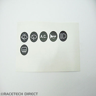 RD305 Cerb Steering Wheel label Set