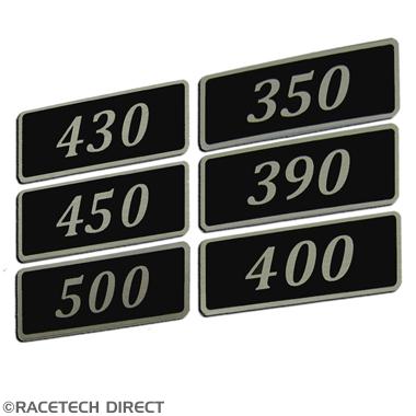 Racetech - Part No. TVR RD307 Rover V8 Black Rocker Cover Badge 350 390 400 430 450 500