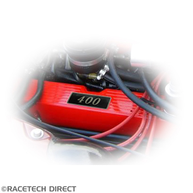 Racetech - Part No. TVR RD307 Rover V8 Black Rocker Cover Badge 350 390 400 430 450 500
