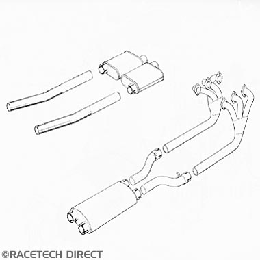 Racetech - Part No. TVR 15216/7 Exhaust Manifolds 3000 M series