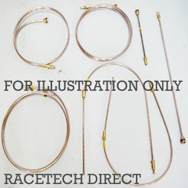 Racetech - Part No. TVR RD1346 TVR Copper Nickel Brake Pipe Kit TVR S 2.9 V6