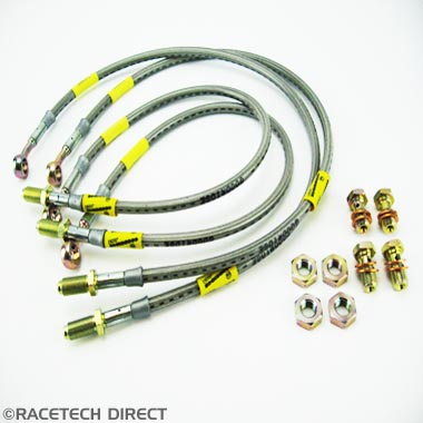 TVR008 TVR Braided Brake Hose Set - TVR Cerbera