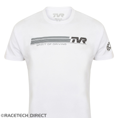 TVRTS00401 Spirit Of Driving T-Shirt - TVR - White
