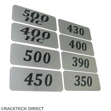 Racetech - Part No. TVR RD304 Rover V8 Plenum Badge 350 390 400 430 450 500 400HC 500HC