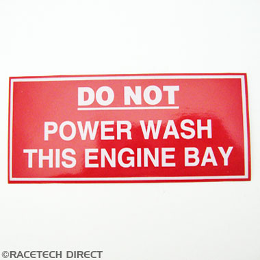 V0660 TVR Label for Engine Bay (Do Not Jet Wash)