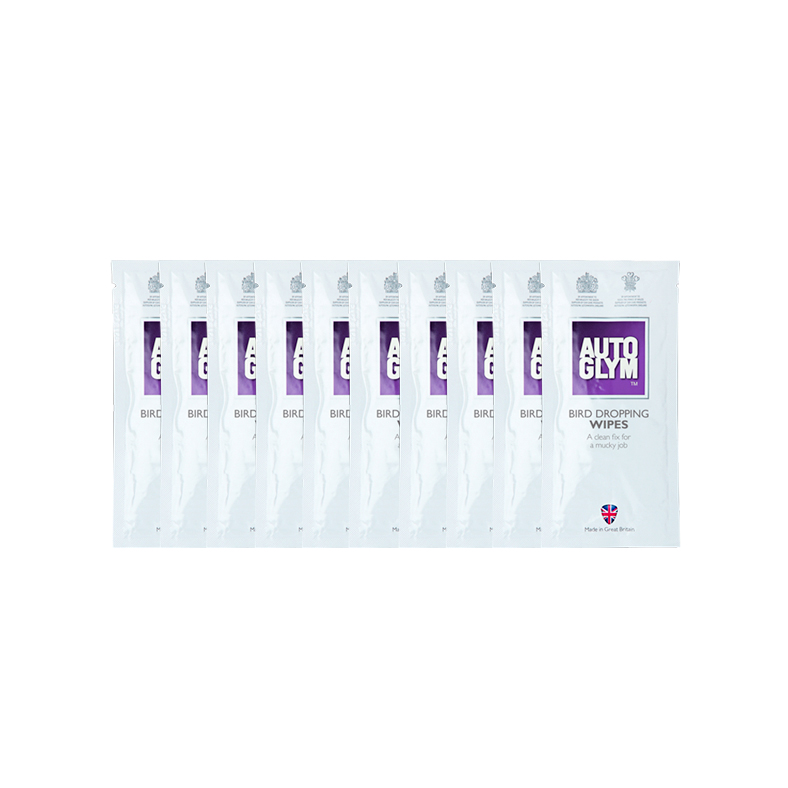 Racetech - Part No. TVR RDBDWIPE10 AutoGlym Bird Dropping Wipes